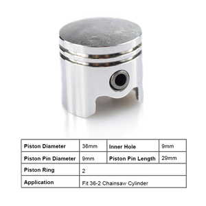 Image 2 - 1 Set 36mm Chainsaw Piston Kit Piston Ring Pin Kit Fit For 36 2 Chainsaw Spare Parts Cylinder Piston Set