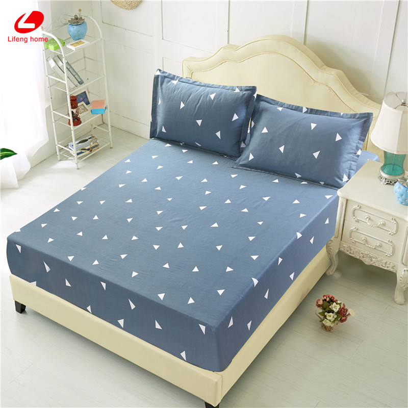 Home textile bed sheet sheet flower mattress cover printing bed sheet elastic rubber bedclothes 180*200cm summer bedspread band 55