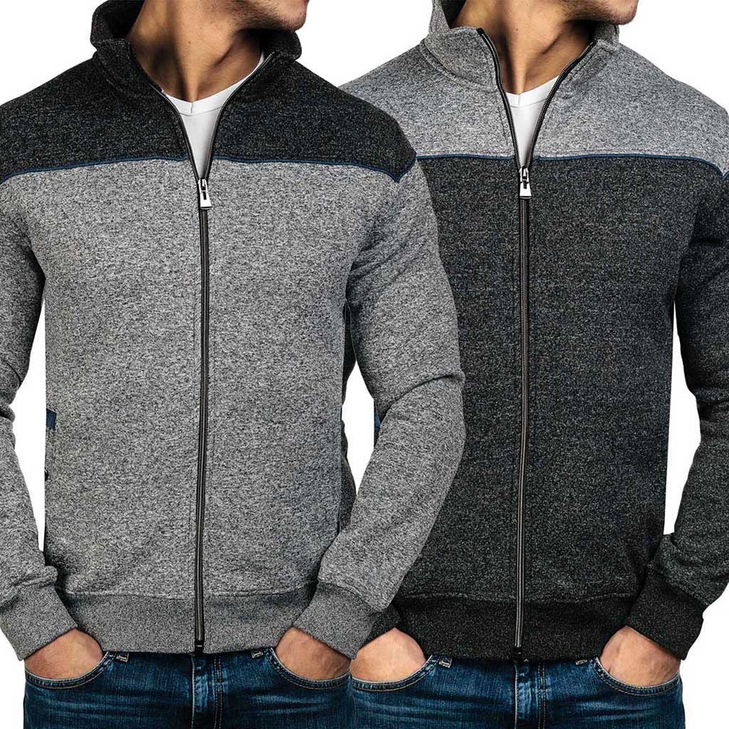 Men Zip Up Casual Elastic Coat...
