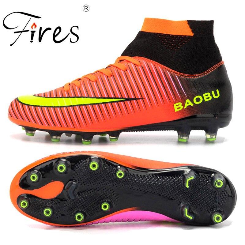 Sufei zapatos de fútbol de los hombres de alta superior Superfly botas de  fútbol obra FG. Zapatos de fútbol de alto tobillo ... 62d1a283196e9