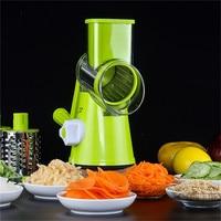 multifunctional manual vegetable shredder potato slicer cutter chopper hand drum spiral peeler grater kitchen tools