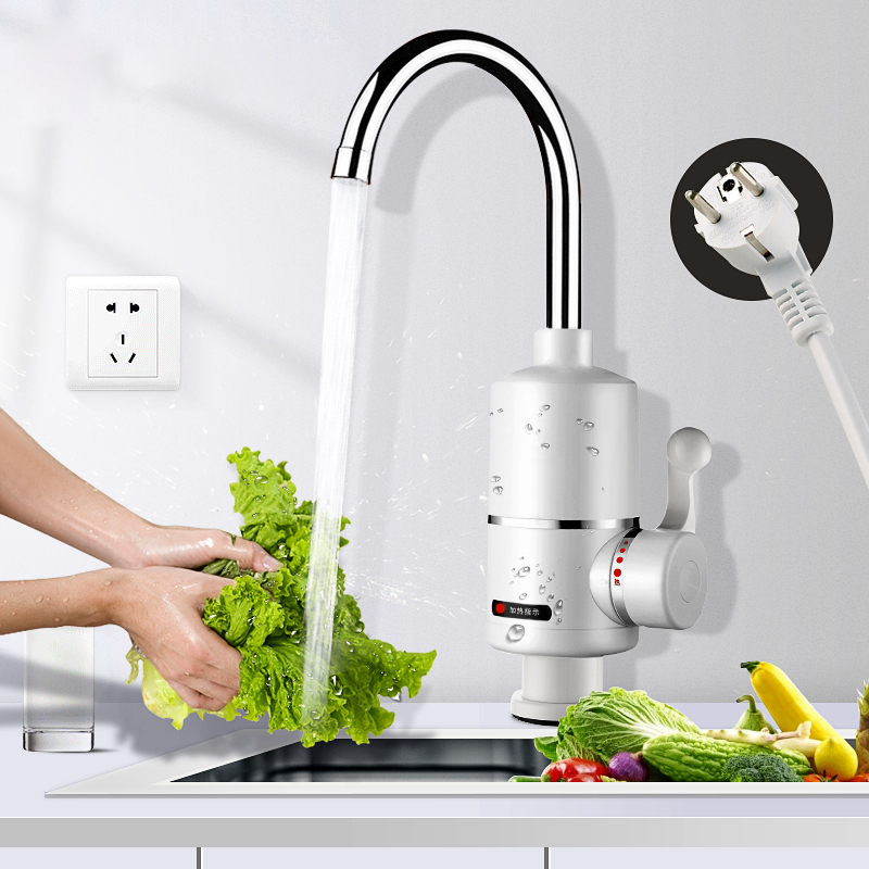 Water Heater Tap Instant Hot Water Faucet Heater Cold Heating Faucet Tankless Instantaneous Electric Kitchen  Water Heater