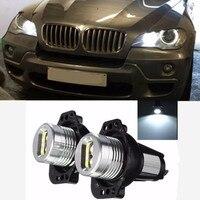 2 шт. 2*6 Вт LED Ангельские глазки Halo Кольцо маркер лампочка для BMW E90 E91 325i 328i 330i 335i 8-30 В 6000 К холодный белый стайлинга автомобилей