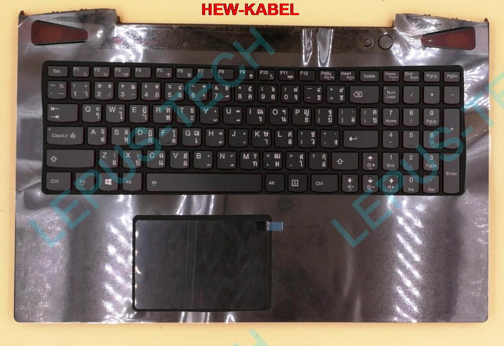 Thai TI layout US keyboard for LENOVO Y50-70 with backlight with palmrestThai TI layout US keyboard for LENOVO Y50-70 with backlight with palmrest