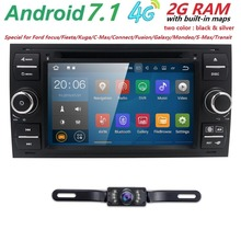 2 GRAMCar Headunti Für Ford Android7.1 Auto DVD-Player Für Ford Galaxy Fusion C-MAX S-MAX Fokus GPS Navigation Radio Stereo System