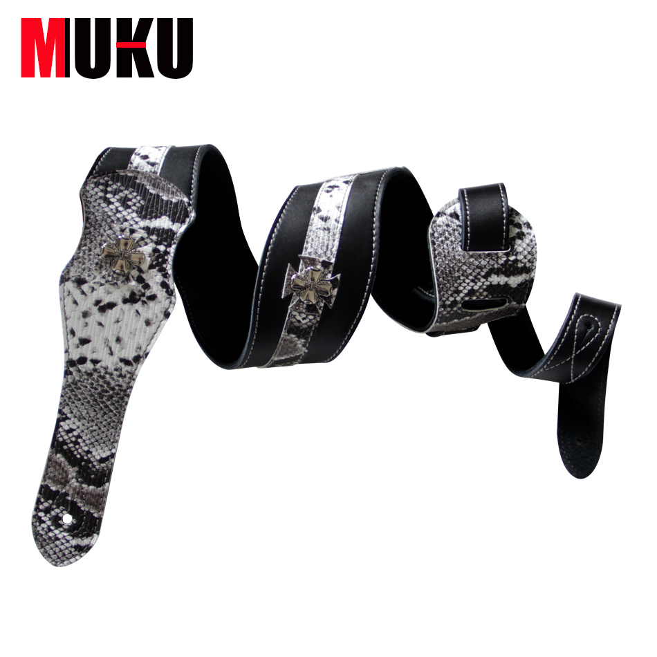 MUKU soft thick Guitar straps bass straps with flower decoration high  quality Electric guitar strap/bass belt amumu traditional weaving patterns cotton guitar strap for classical acoustic folk guitar guitar belt s113