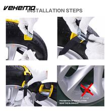 Vehemo TPU 1 Pc Durable Universal Snow Chain Easy Installation Mud Wheel Snow Tire Belt Accessories Anti-Skid Chains Thickened