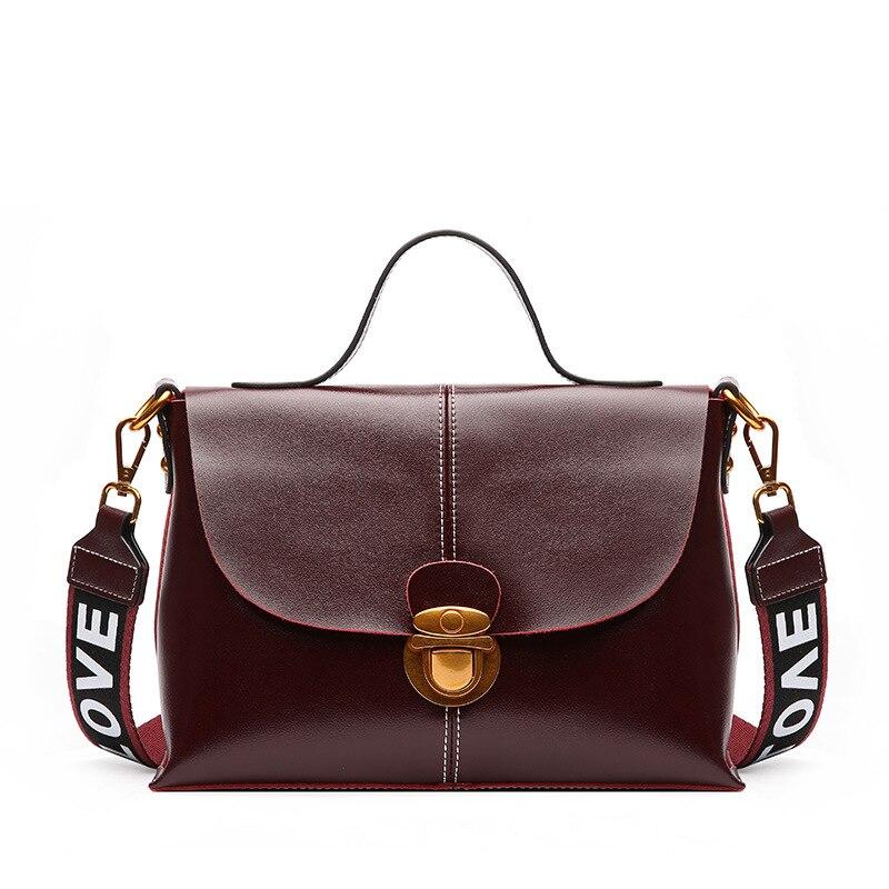 цены на 2018 New Vintage Split Cow leather Women's Bag Handbag Brand Simple Design Female Shoulder bag Women Messenger bags