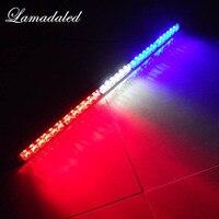 75CM 29inch Car Strobe Light bar 30 LED Flash lights Police warning Lights emergency strobe lights DC 12V red blue white amber