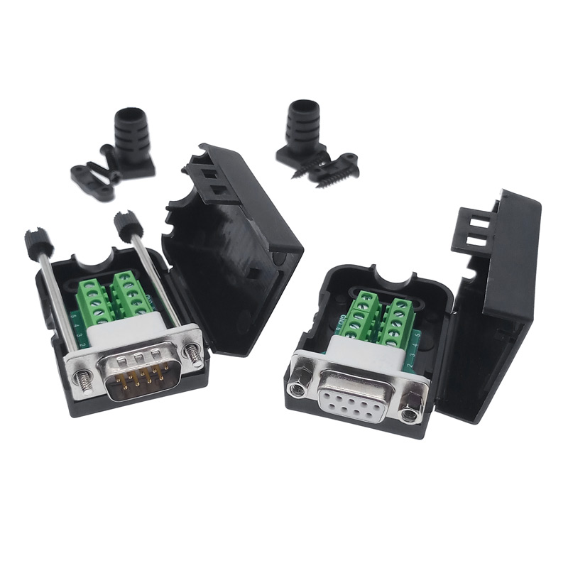 DB9 COM RS232  transfer-free Signals terminals Male Female connector D sub 9PinDB9 COM RS232  transfer-free Signals terminals Male Female connector D sub 9Pin