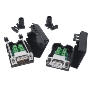 DB9 COM RS232 transfer-free Signals terminals Male Female connector D sub 9Pin(China)