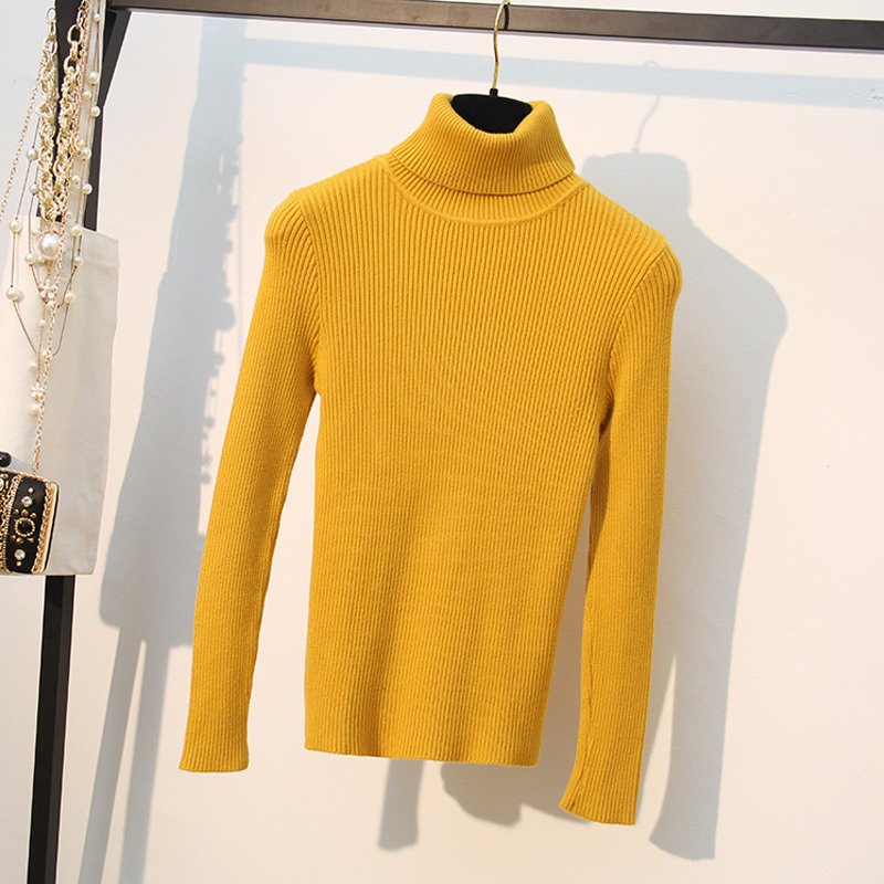 HLBCBG Loose Turtleneck LapelneckWomen Autumn Winter Sweater Thick Warm Pullover and Sweater Soft Long Sleeves Jumper Femme Pull in Pullovers from Women 39 s Clothing