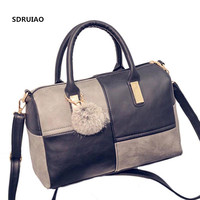 Europe And The United States Ms Fight Color Pattern Handbag Scrub Craft Ladies Shoulder Bag Presented