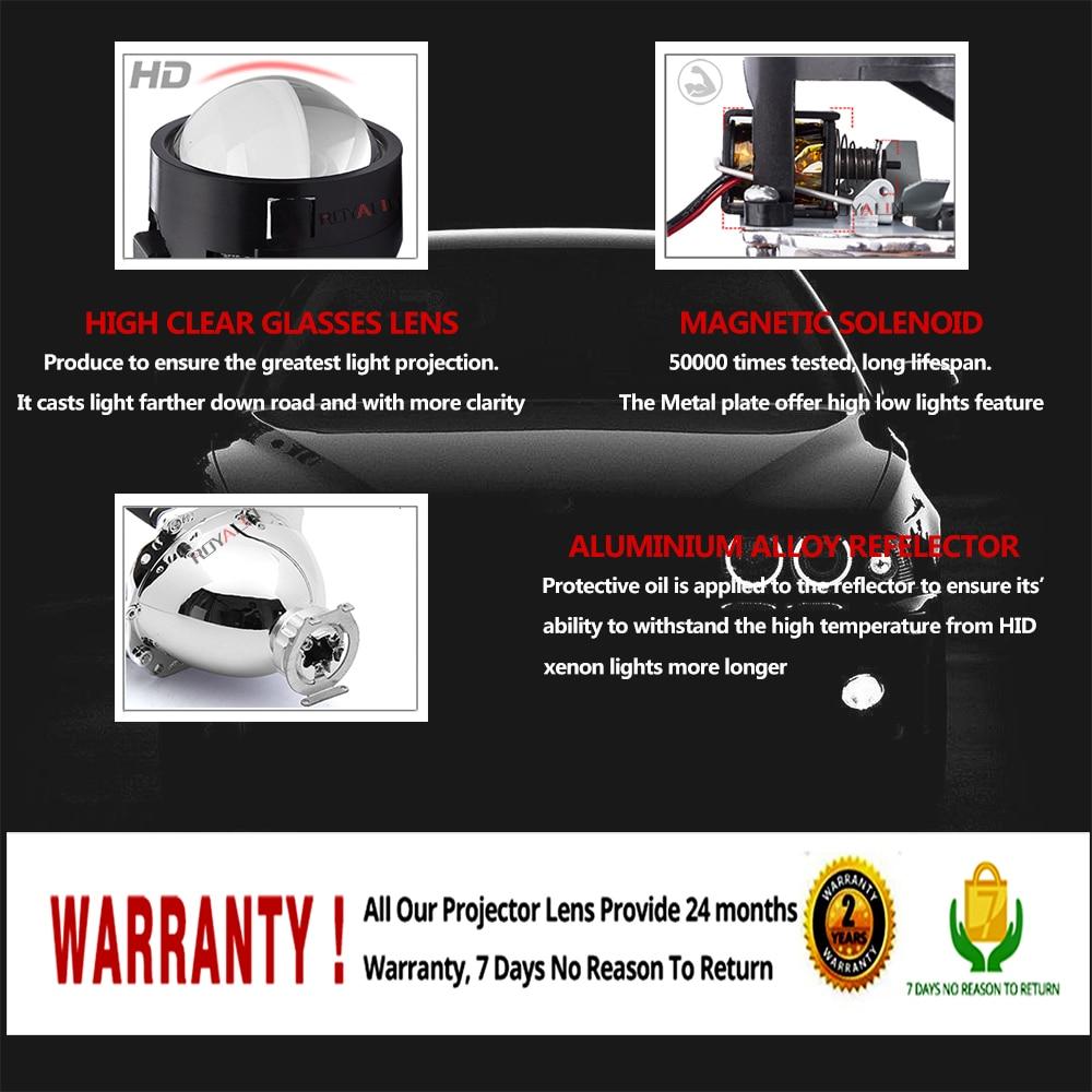 ROYALIN DRL Cüt mələk gözləri LED COB Halo Üzüklər Mini - Avtomobil işıqları - Fotoqrafiya 3