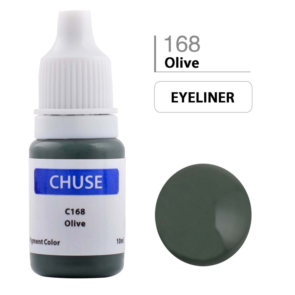 CHUSE C1 Permanent Makeup Ink 6 Colors Professional Tattoo Ink Supply for Eyeliner & Eyeliner Shaded Cosmetic microblading 14