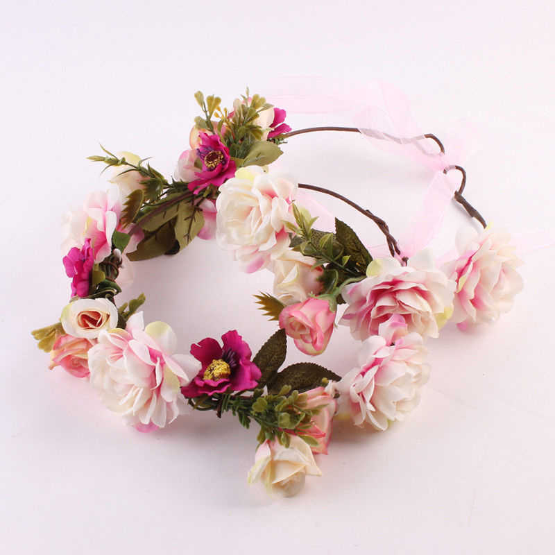 Women Girls Flower Headband Wedding Party Hair Crown Prop Garland Cute Princess Fairy Adult Kid Photography Props Lovely New Hot