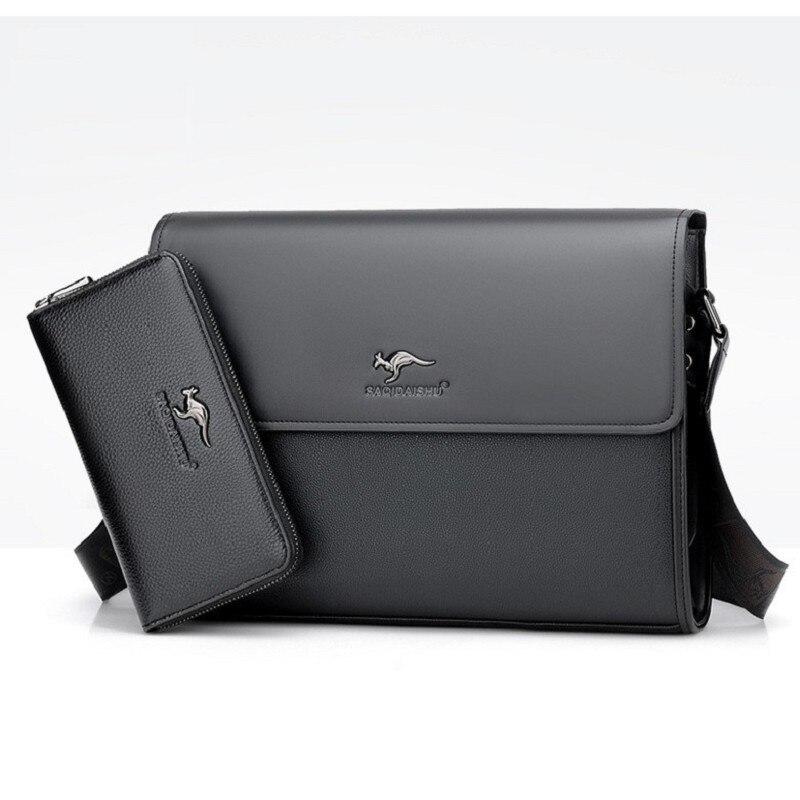 Fashion Men briefcases business Bag PU formal work bags Male Crossbody Messenger handbags