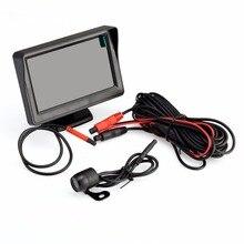 """4.3 """"Digitaces de la Pulgada TFT LCD de Opinión Posterior Del Coche Kit Styling Revertir Monitor de Visión Nocturna de Coches Cámara de La CC 12 V-24 V Negro"""