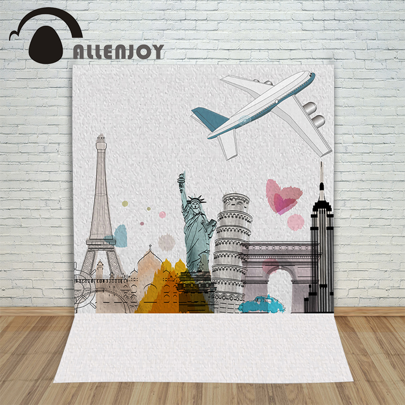 Allenjoy photo background wedding backdrops photography Eiffel Tower romantic love heart photocall wedding party for photo shoot allenjoy diy wedding photography background romantic love wood board custom name date phrase backdrop photocall