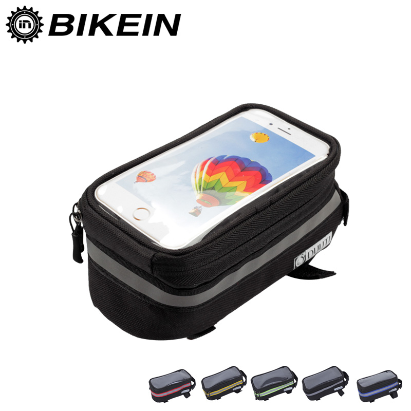 Cycling Bike Bag MTB Road Bicycle Outdoor Frame Front Head Top Tube Bag Touch Screen Phone Pannier Bicycle Accessories 5 Colors