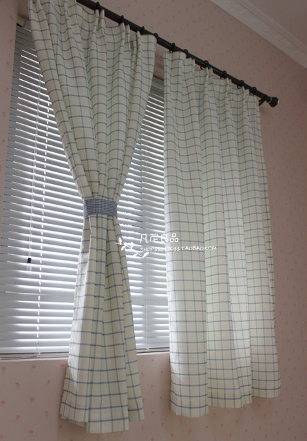 verse mediterrane blauw rooster doek gordijnen slaapkamer afgewerkte woonkamer gordijn multi maat gratis verzending