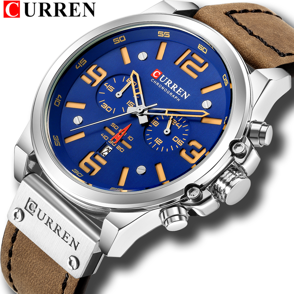 Top Brand Luxury CURREN Fashion Leather Strap Quartz Men Watches Casual Date Business Male Wristwatches Clock Montre Homme 8314 стоимость