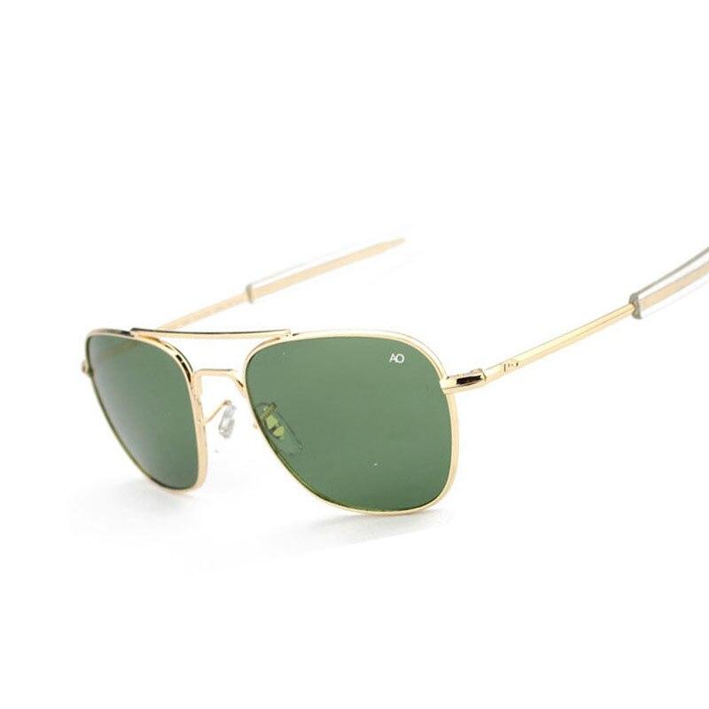 Samjune Moda Aviação Óculos De Sol Dos Homens Designer de Marca AO Sol Óculos Para O Sexo Masculino Militar Do Exército Americano Vidro Óptico de Lentes de Oculos