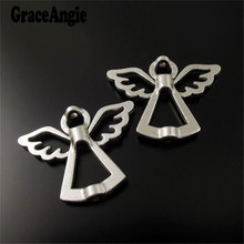 Vintage Style Atq Silver Alloy Angel Spacer Beads Jewelry Finding 35pcs 36364 28*22*4mm