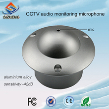 SIZHENG SIZ-180 flying saucer shape CCTV Audio Microphone Pick Up Sound for DVR Security System audio pick up high sensitive mini cctv audio microphone mic for security cctv camera dvr system
