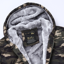 Male Camouflage army Hooded Printed Jackets