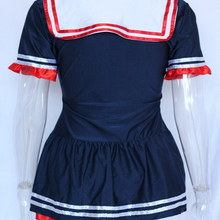 Role Play Sailor Sea Fancy Dress Costume Outfit Sexy Fashion Role Play Female Halloween Cosplay Halloween Costume W438049