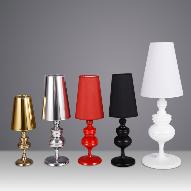 купить Modern Guard table lights for bedroom bedside lamp hotel Palace lighting floor white/black/red/gold/silver desk lamps по цене 3974.41 рублей