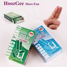 HoozGee Manga Finger Condones Productos Del Sexo de La Salud Sexual Condón De Látex 20 unids/lote (Lubricación de Aloe Vera + Menta Fría)