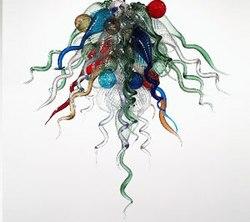 Gorąca sprzedaż Mini śliczne małe rozmiar kolorowe żyrandol ze szkła do dekoracji domu