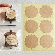 120 шт 10 листов Цветочная кромка пустая ручная упаковка для торта уплотнительные этикетки из крафтовой бумаги наклейки для выпечки Подарочные наклейки «сделай сам» M1190