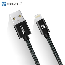 Coolreall USB Cable MFI Certified for iPhone 6 7 8 Plus Charger Cable Original Nylon Data Fast Charging for Mobile Phone Cables
