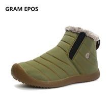 GRAM OEB Unisexe Plus La Taille 46 47 Chaud Hommes Bottes D'hiver Couple Étanche Casual Chaussures de Travail Hommes Boots2018 New Furry Hommes Bottes