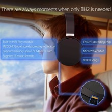JAKCOM BH2 Wireless Bluetooth 4.1 Headphone Wireless Headset With Mic FM Support TF Card Earphone For Iphone Android Smart Phone