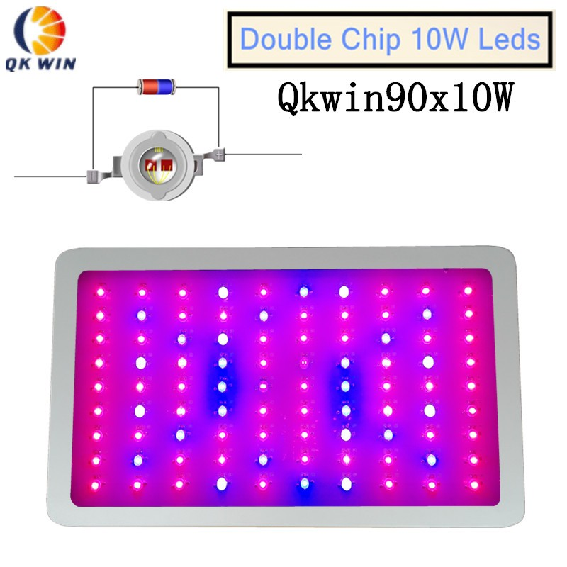 900W Double Chips LED Grow Light Full Spectrum 410-730nm , Increase production for hydroponic Planting, Indoor Plants and Flower