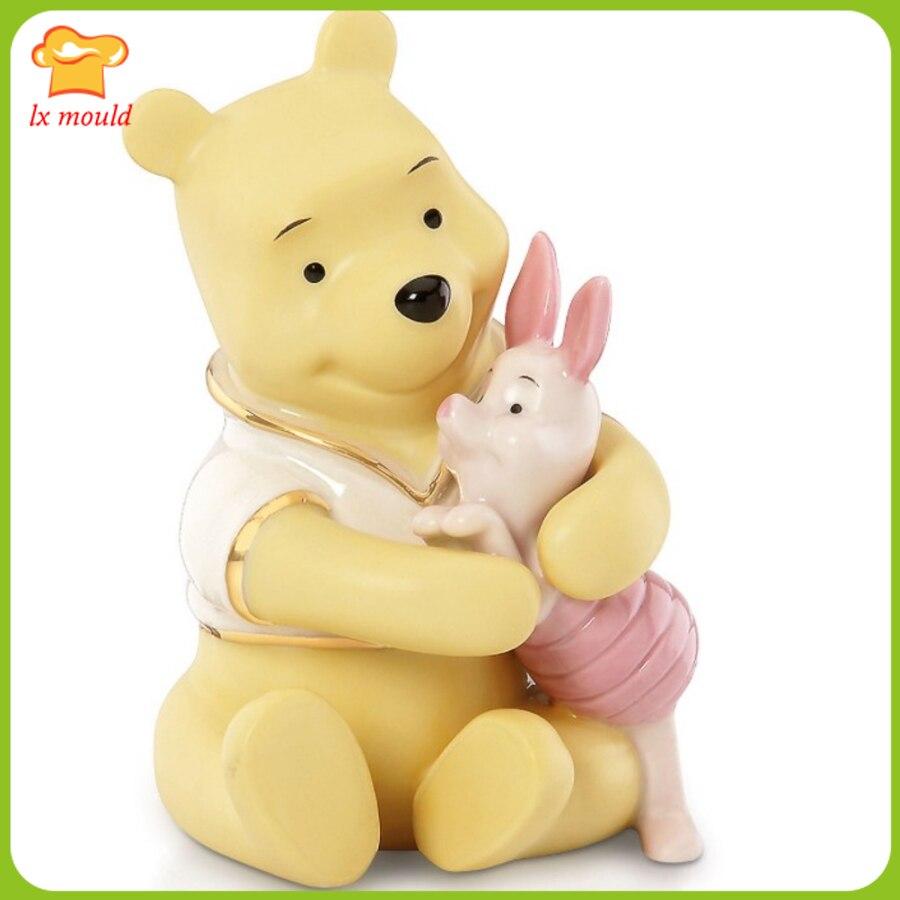 Новинка 2019 силиконовая форма для мыла с изображением медведя из мультфильма, форма для торта, форма для шоколадного пудинга, подарок для дет