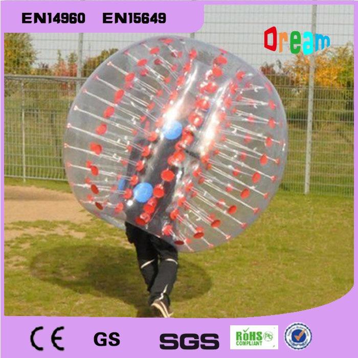 Llongau am ddim 1.5m Pêl-droed Bumper Pwmpiadwy Ball Zorb Theganau Pêl-droed Swigod Ball Pêl-fasged Pêl Hamter I Oedolion