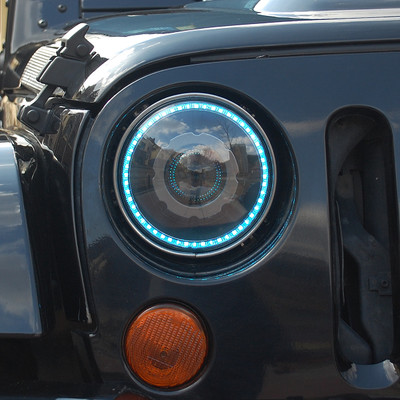 Gratis Pengiriman Malaikat Mata LED Headlight Headlamp HID Q5 Xenon - Lampu mobil - Foto 6