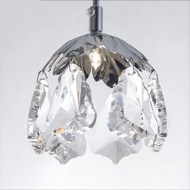 Pendant lamp modern fashion Petaloid crystal chandelier for dining room kitchen room k9 luxury lamp LED hanging lighting fixture