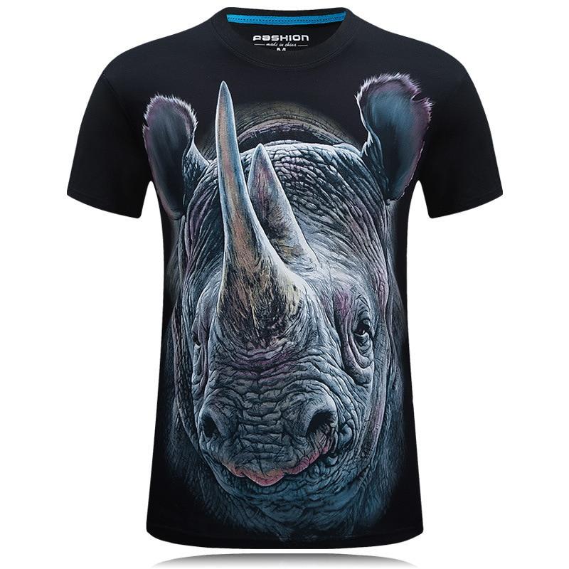 メンズ3dプリントtシャツプリントビッグサイ半袖グラフィックティーゴスパンクトップス動物男性tシャツt男性シャツオム