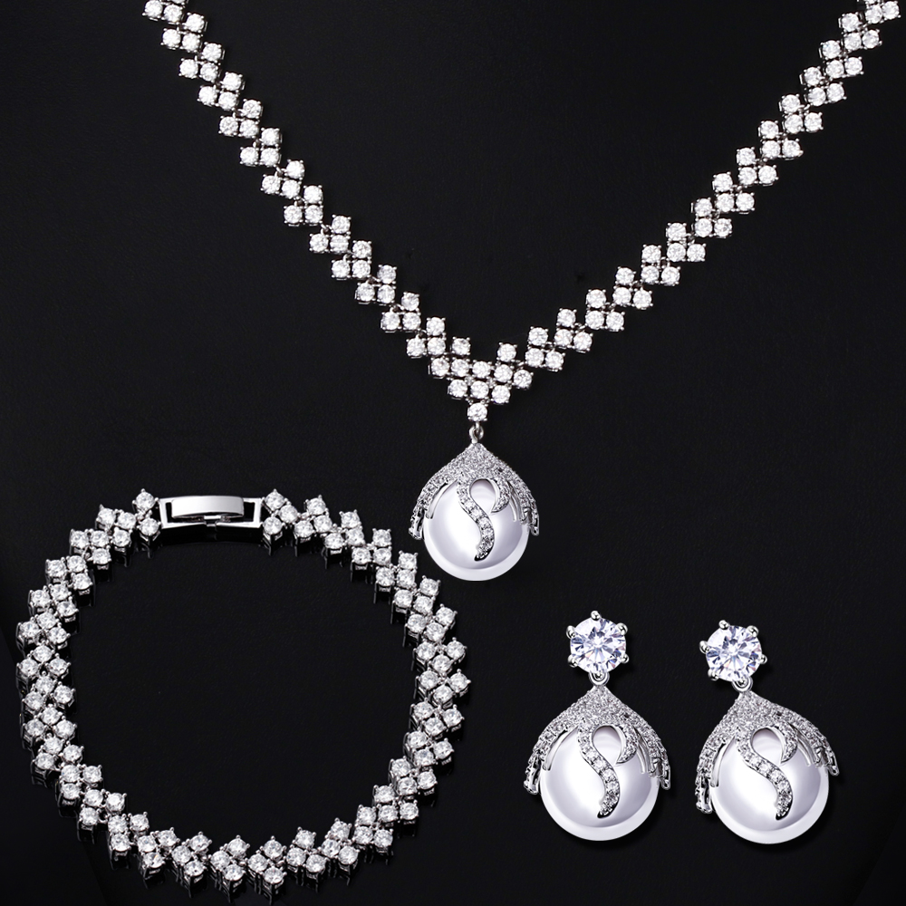 Bracele Cubic Zirconia Setting Bridal Wedding Jewelry Sets From  Reliable