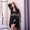 Robe For Women  Nightgown Temptation Spring Long Sleeve Sleepwear Net Yarn Nylon Lace Robe Sets Gown