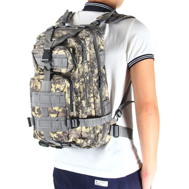 b8d59e67a Outdoor Waterproof Tactical Combat Rucksack Backpack Bag Camping Hiking Mil-Tec  Military Army Patrol MOLLE