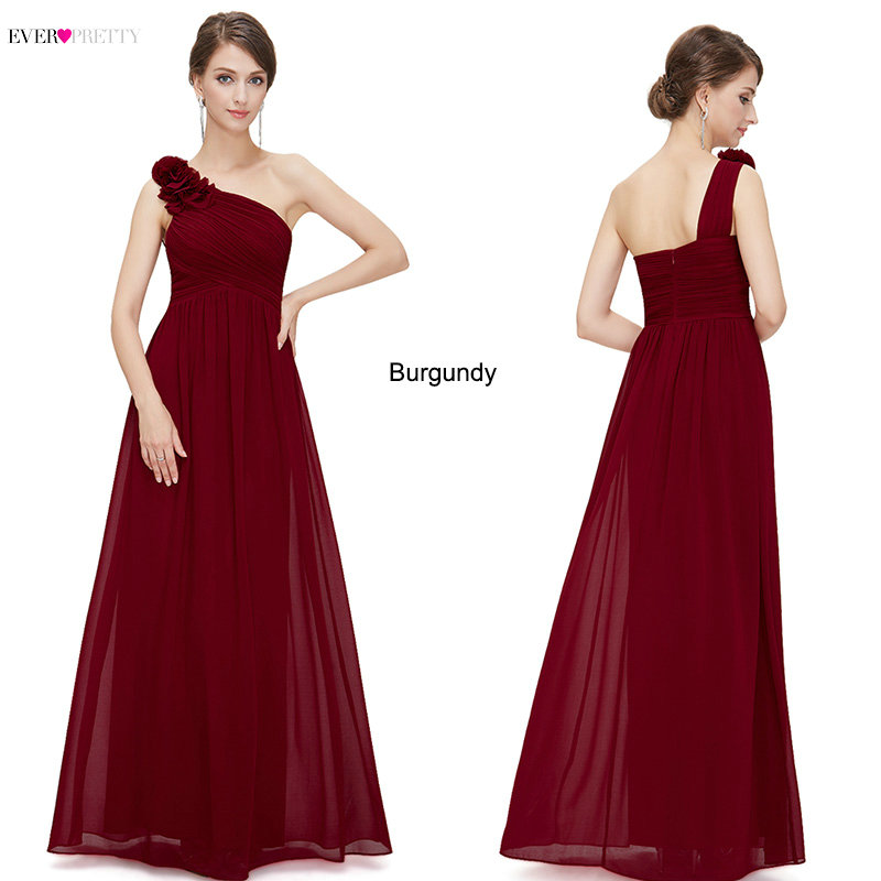 Image 5 - Ever Pretty Women Elegant Evening Dresses Long Burgundy Sexy A Line Sleeveless V Neck Long Backless Chiffon Party Evening Gowns-in Evening Dresses from Weddings & Events