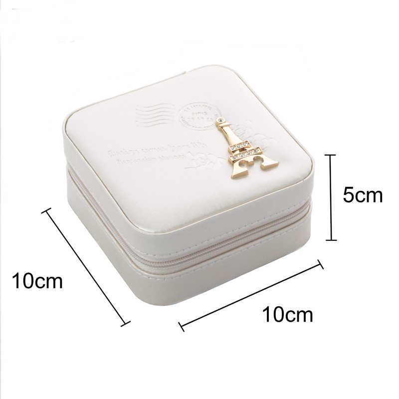 9d92bc0a17ee Valentine gift jewelry organizer box cosmetic makeup organizer Travel  jewelry packaging box earrings storage jewelry casket case