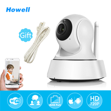 Хауэлл Беспроводной Видеоняни и радионяни мини IP Камера Wi-Fi home security Робот Камера HD 720 P P2P видеонаблюдения Видео Камера ipcamera